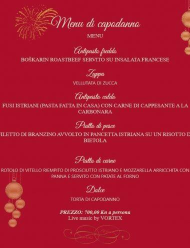 New year dinner music restaurant Navigare
